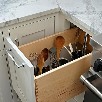 Hidden Kitchen Utensil Storage Design Ideas