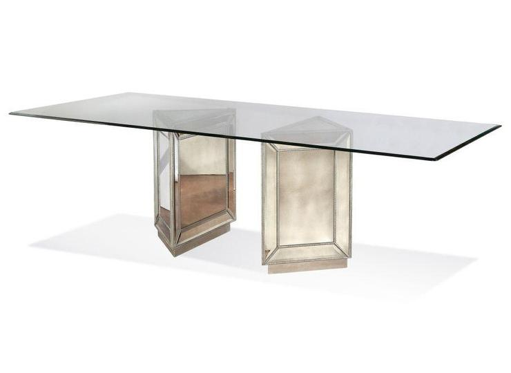 Well known Silver Beaded Base Glass Table DT62