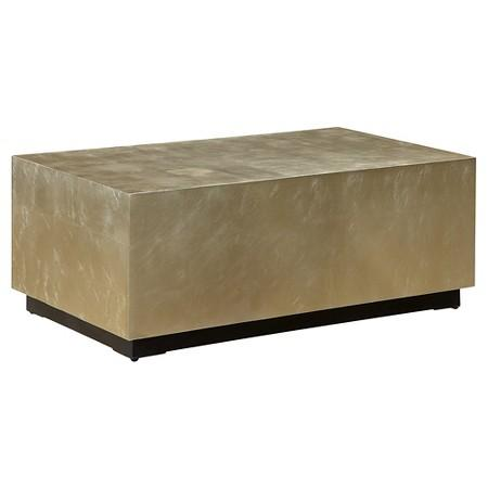 Gold And Black Rectangular Coffee Table