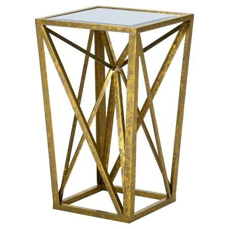 Threshold Pink Faux Agate Glass Top Accent Table