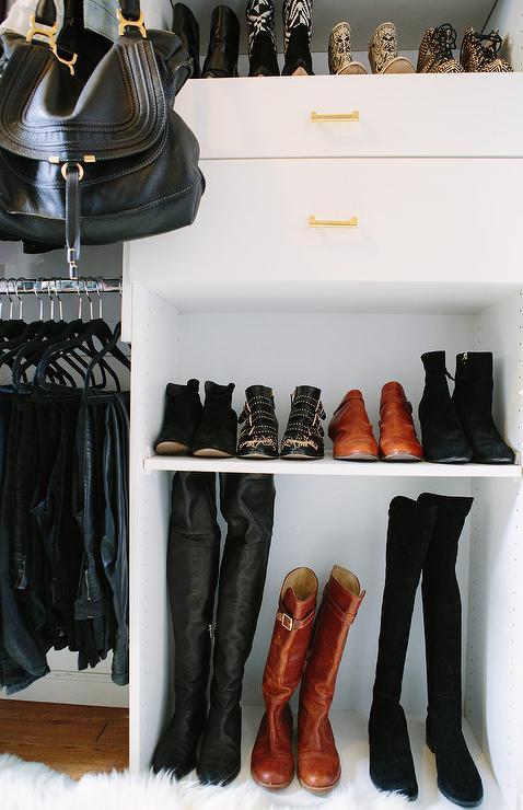 Modular Closet System With Boot Shelf