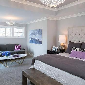 Purple and gray bedroom sitting area design ideas for Sherwin williams lavender gray