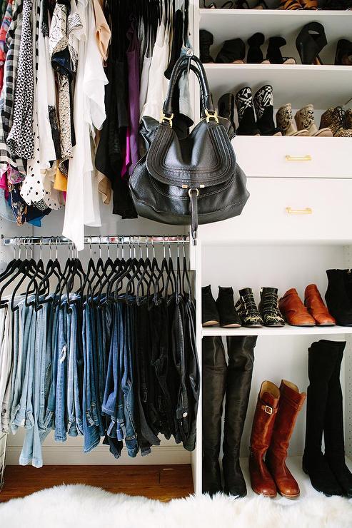 Modular Closet with Shoe Shelves