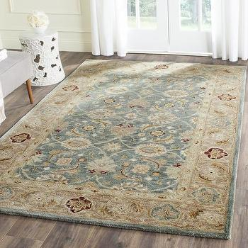 Brown And Beige Antique Persian Motif Rug