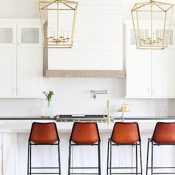 Shiplap Kitchen Hood with Rustic Wood Trim  sc 1 st  Decorpad & Cb2 Roadhouse Leather Bar Stool Design Ideas islam-shia.org
