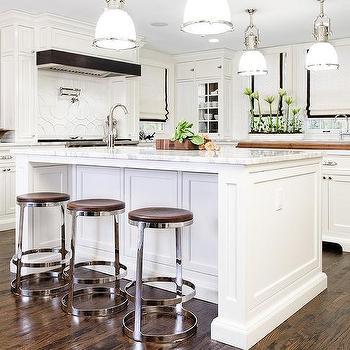 Gourmet kitchen with three islands transitional kitchen for Gourmet kitchen islands
