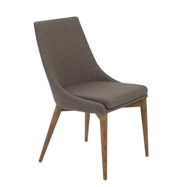 Dark Gray Swoop Arm Chair