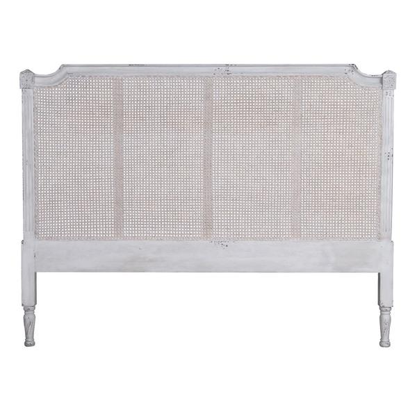 White Vintage Wooden French Style King Headboard. Vintage Wooden French Style King Headboard