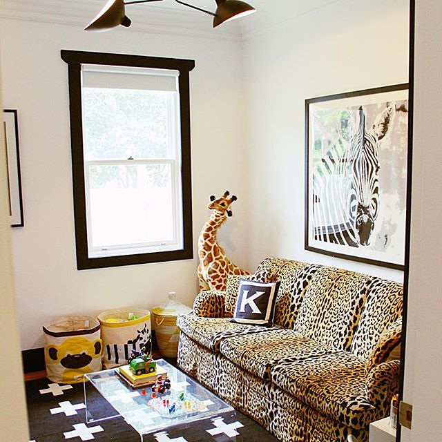 Leopard Print Sofa With