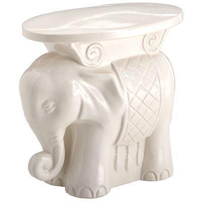 White Elephant Garden Stool