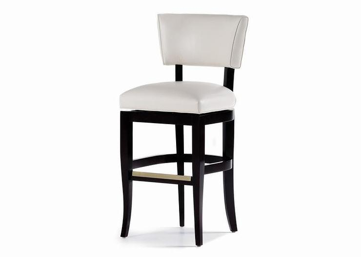 jessica charles white leather bar stool - White Leather Bar Stools
