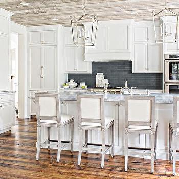 Reclaimed Kitchen Wood Floor Panels Design Ideas