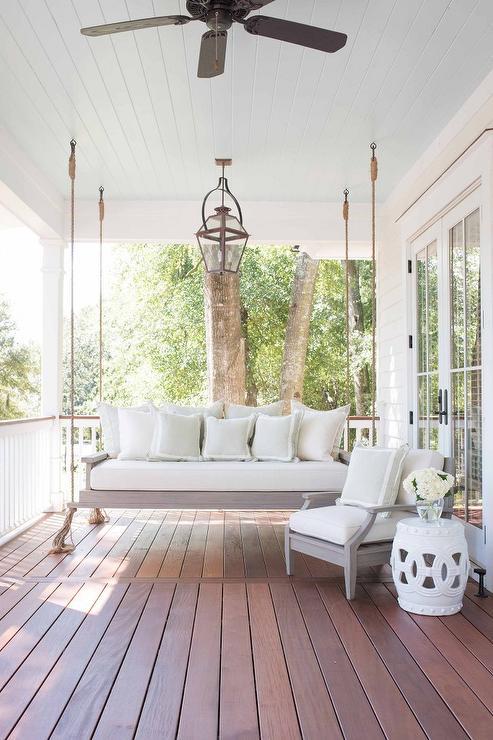 Blue Beadboard Porch Ceiling Design Ideas