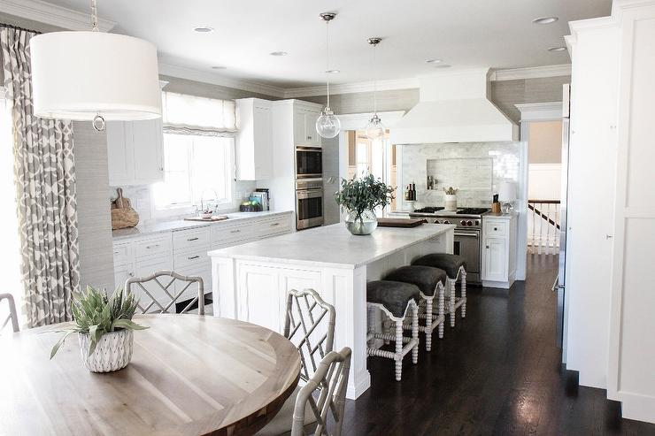 white kitchen island with seating white kitchen island with gray seat abacus counter stools 1822