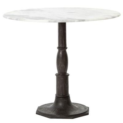 White Marble Bistro Table
