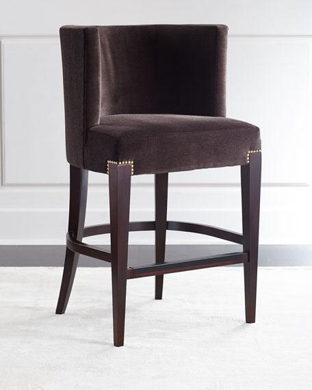 Incredible Brown Round Back Counter Stool Bralicious Painted Fabric Chair Ideas Braliciousco