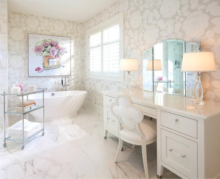 Mirrored Make Up Vanity Traditional Bathroom Miles Redd