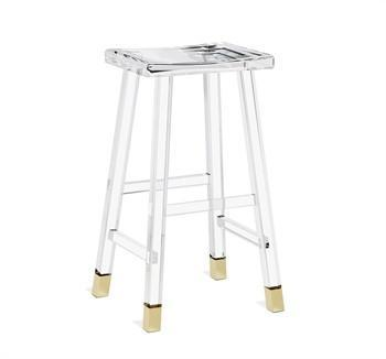 Clear Acrylic Brass Bar Stool