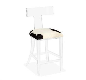 Acrylic Waterfall Footrest Counter Stool