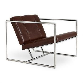 Modern Dose White Tufted Chair