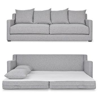 Gray Diamond Tufted Upholstered Sofa Bed