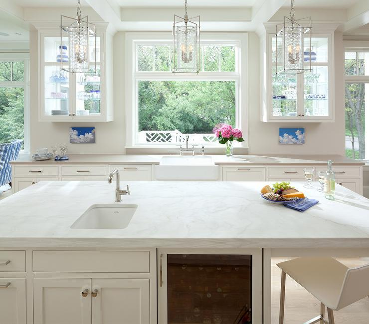 Kitchen Cabinets With Glass Uppers: See Through Upper Cabinets Design Ideas