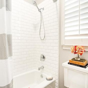 Subway Tile Wainscoting Vintage Bathroom Royal Roulotte