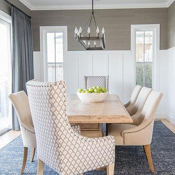 Gray Kitchen Dining Chairs And Table For Small Area
