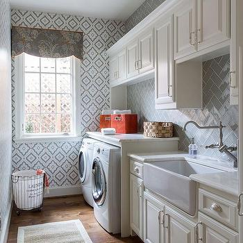 Galley Style Laundry Room Design Ideas