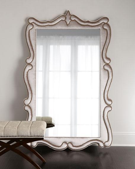 Ainsley Mottled Silver Frame Floor Mirror