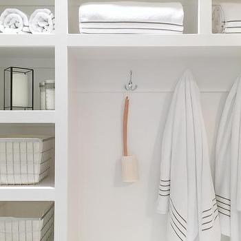 Built In Bathroom Shelves