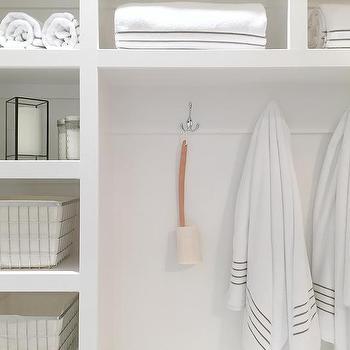 Built In Bathroom Shelves Design Ideas