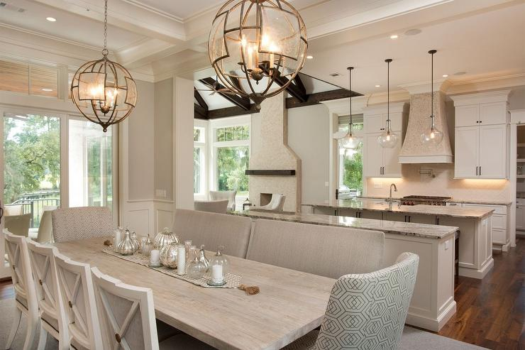 Lights Over Dining Table Design Ideas - Two pendant lights over dining room table