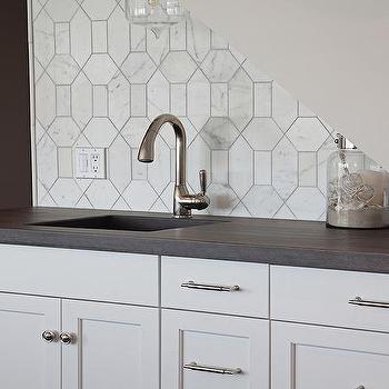 Marble Octagon Tile Transitional Kitchen Sarah