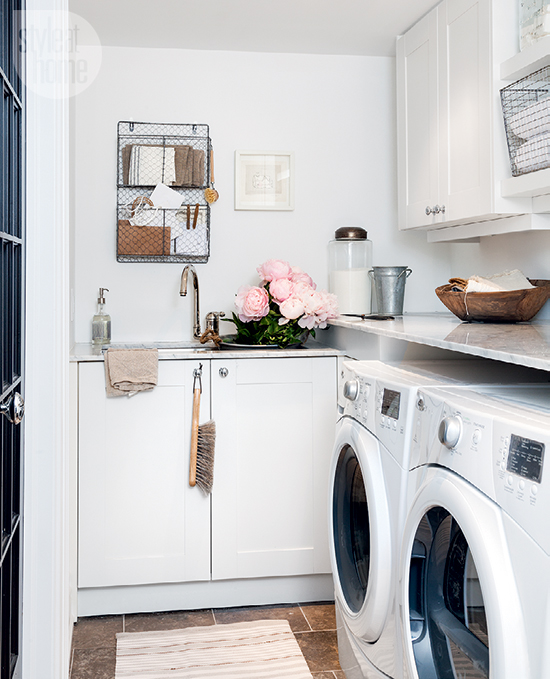 Small white laundry room with sink contemporary laundry room - Laundry rooms for small spaces decoration ...
