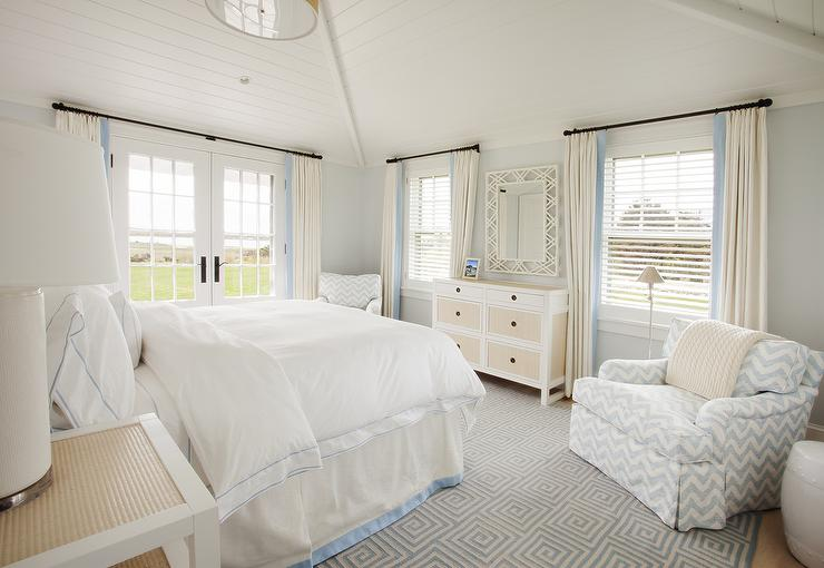 Light Blue And White Bedroom white and blue bedrooms - cottage - bedroom - cottage company