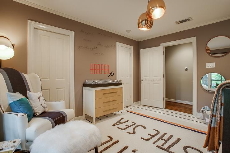 green changing table contemporary nursery melanie morris design. Black Bedroom Furniture Sets. Home Design Ideas