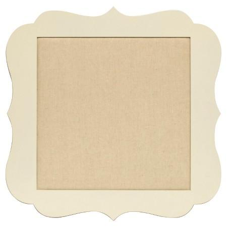 Cream Scalloped Bulletin Board