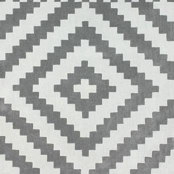 Gray And White Pixel Diamond Pattern Rug