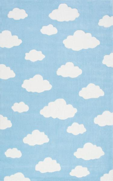 Blue And White Clouds Rug