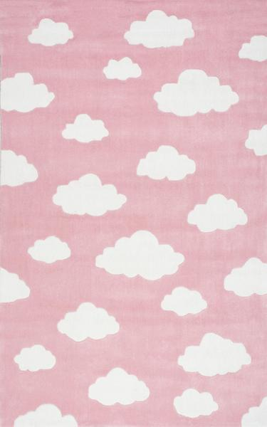 Pink And White Bedroom: Pink And White Clouds Rug