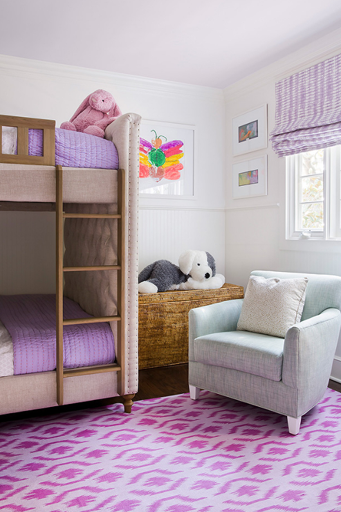 Blue And Purple Girl Bedroom With Anthropologie Knotted