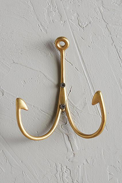 Imm Living Wishbone Hook In Brass