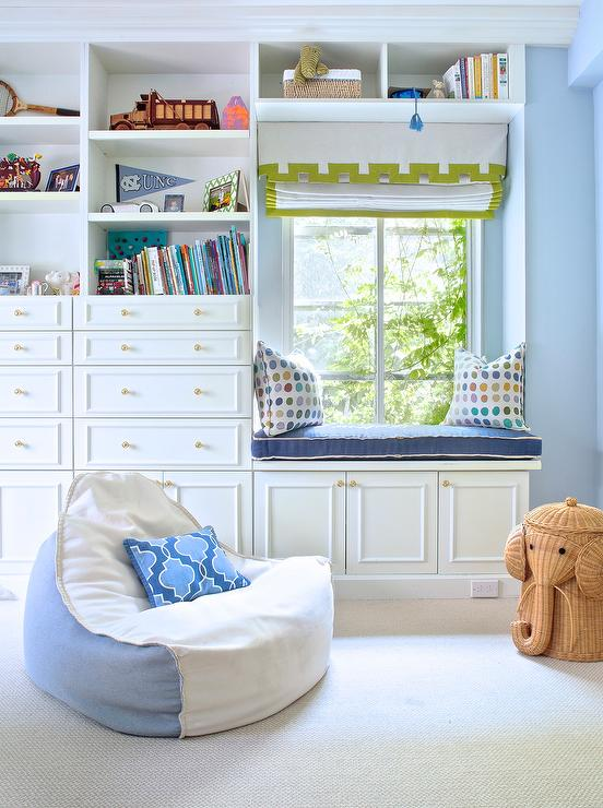 Kid Bedroom With Reading Nook Window Seat Traditional