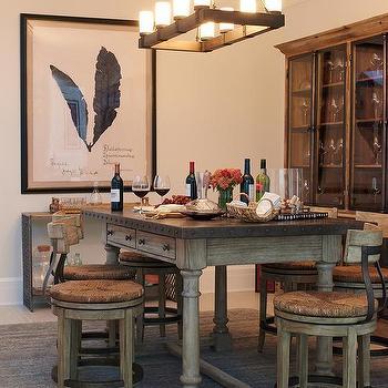 Zinc Top Dining Table Design Ideas - Zinc dining room table