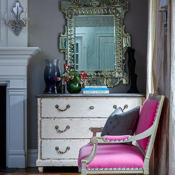 Hot Pink French Living Room Chair Design Ideas