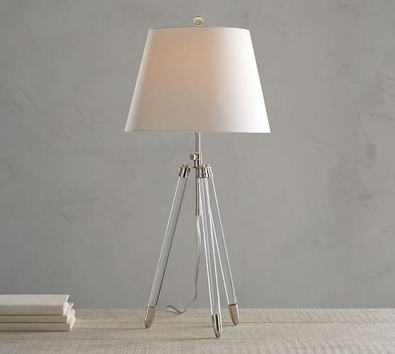 Acrylic Tripod Table Lamp