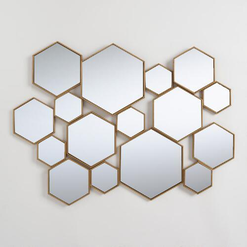 Nate Berkus Black Metal Honeycomb Wall Art