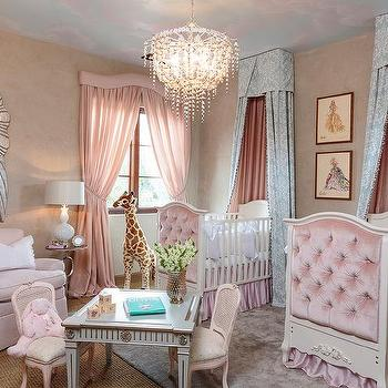 Pink French Nursery For Twin Girls