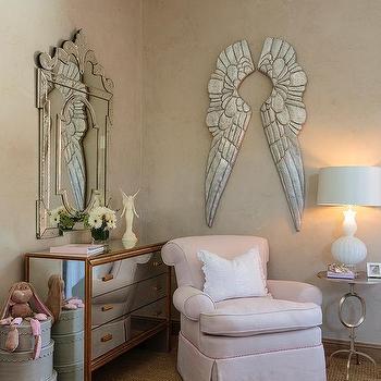 M Pewter Angel Wings Pink